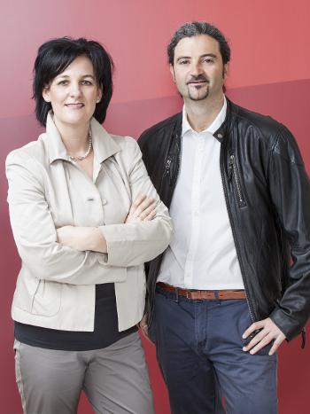 Andrea Haselwanter-Schneider und Markus Sint von der Liste Fritz