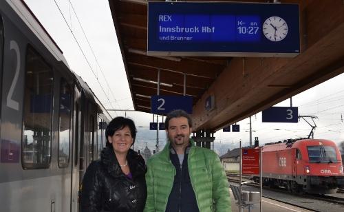 Andrea Haselwanter-Schneider und Markus Sint mit dem Direktzug