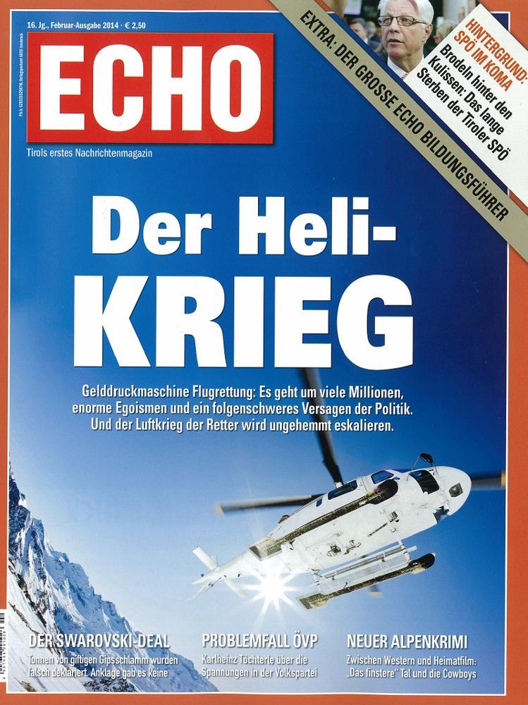 Das aktuelle Titelblatt des Echo-Magazins