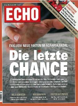 Echo Titelseite zum Thema Agrargemeinschaften