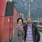 Haselwanter-Schneider und Sint mit dem Direktzug Lienz-Innsbruck