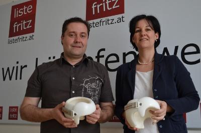 Pressekonferenz zur Helmtherapie mit Andrea Haselwanter-Schneider und Ralph Lorberg