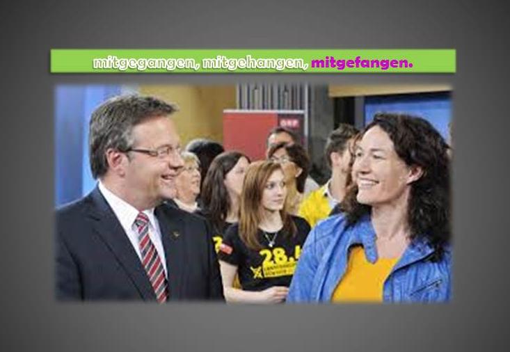 Ingrid Felipe ist mit der ÖVP mitgegangen, mitgehangen und mitgefangen