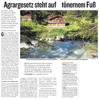 Bericht der Kleinen Zeitung zum Agrargesetz