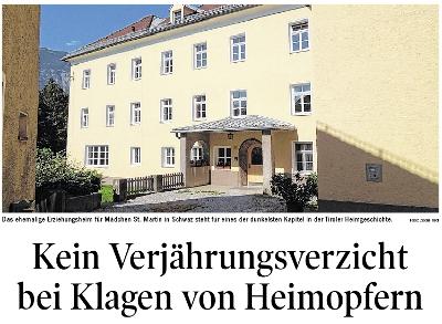 Bericht der Tiroler Tageszeitung zum Verjährungsverzicht