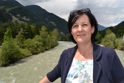 Fritz-Klubobfrau Andrea Haselwanter-Schneider an der Isel