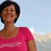 Fritz-Klubobfrau Andrea Haselwanter-Schneider beim Wandern