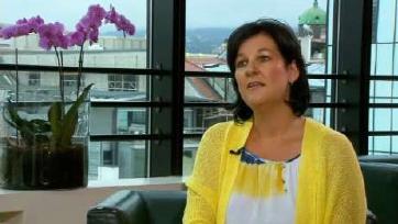 Fritz-Klubobfrau Andrea Haselwanter-Schneider beim ORF-Sommerinterview