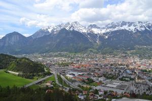 Blick auf Innsbruck und das Inntal