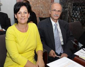 Andrea Haselwanter-Schneider und Andreas Brugger im Tiroler Landtag