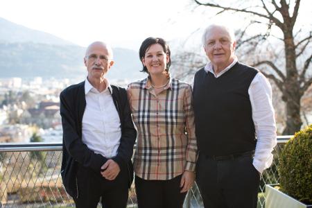 Andreas Brugger, Andrea Haselwanter-Schneider und Fritz Dinkhauser am Bürgertag 2014