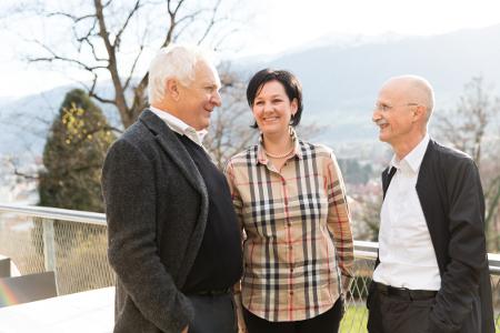 Fritz Dinkhauser, Andrea Haselwanter-Schneider und Andreas Brugger am Bürgertag 2014