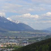 Das Inntal in Richtung Osten fotografiert