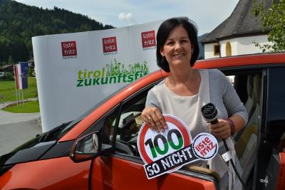 Andrea Haselwanter-Schneider ist gegen Tempo 100 auf der Inntalautobahn