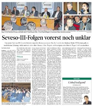 Bericht der Tiroler Tageszeitung zum TT-Forum in Landeck zum Thema Seveso