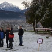 Lokalaugenschein von Fritz-Klubobfrau Haselwanter-Schneider beim Jugendland in Arzl