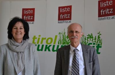 Andrea Haselwanter-Schneider und Andreas Brugger wünschen sich Tirol zukunftsfit