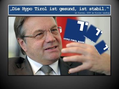 Zitat von Günther Platter aus dem Jahr 2009 zur Hypo Tirol Bank