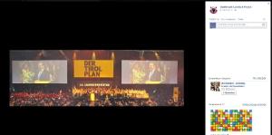 Parteipolitische Werbung auf der Facebook-Seite der Stadtmusikkapelle Landeck-Perjen