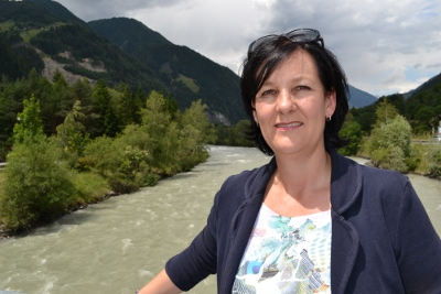 Andrea Haselwanter-Schneider an der Isel