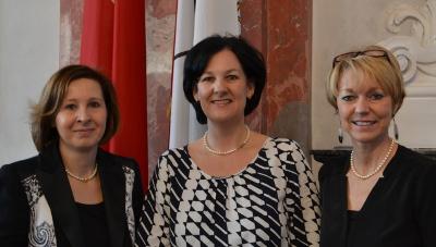 Die Frauensprecherinnen von Grünen, Liste Fritz und SPÖ