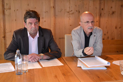 Georg Dornauer (SPÖ) und Andreas Brugger (Liste Fritz) bei der Pressekonferenz