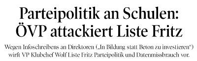 Ein Ausschnitt aus dem Artikel der Tiroler Tageszeitung