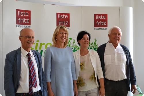 Andreas Brugger, Isabella Gruber, Andrea Haselwanter-Schneider und Fritz Dinkhauser