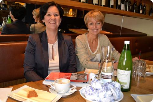 Andrea Haselwanter-Schneider (Liste Fritz) und Gabi Schiessling (SPÖ)