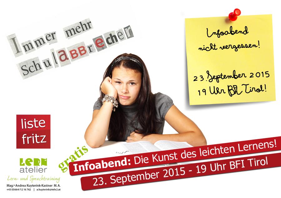"""Einladung zum Infoabend zum Thema """"Die Kunst des leichten Lernens"""""""