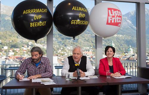 Pressekonferenz zu 7 Jahre Liste Fritz