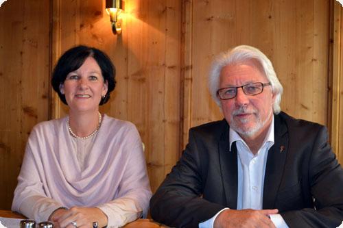 Andrea Haselwanter-Schneider (Liste Fritz) und Gerhard Reheis (SPÖ) bei der Pressekonferenz