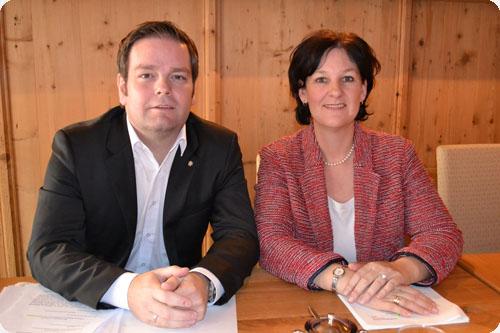Markus Abwerzger (FPÖ) und Andrea Haselwanter-Schneider (Liste Fritz)