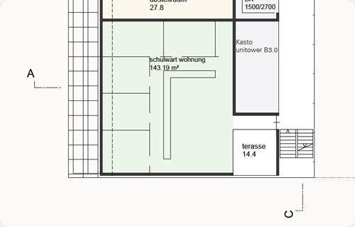 Grundriss der geplanten Schulwart-Wohnung