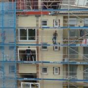 Baustelle Wohnhaus Fassade