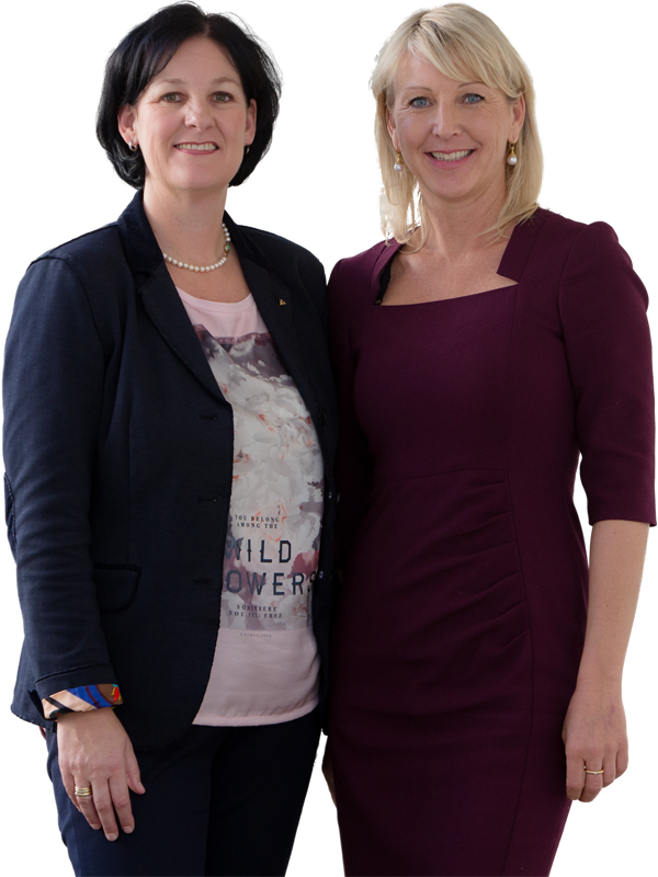Andrea Haselwanter-Schneider und Isabella Gruber