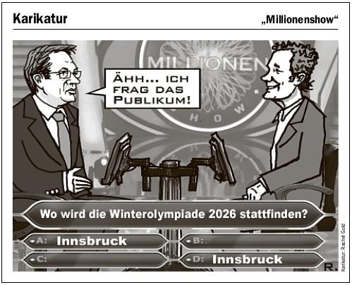 Karikatur zu Olympia 2026 Innsbruck