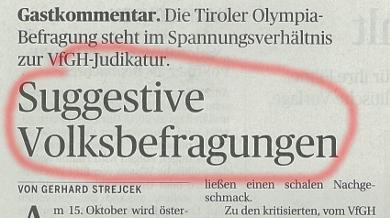 Presse Gastkommentar manipulative Olympiafrage Titel angefaerbelt 310817